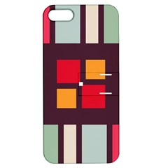 Squares and stripes  Apple iPhone 5 Hardshell Case with Stand