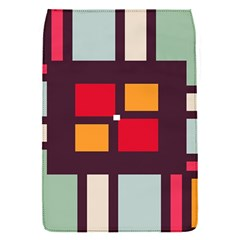 Squares and stripes  Removable Flap Cover (S)