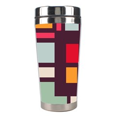 Squares and stripes  Stainless Steel Travel Tumbler