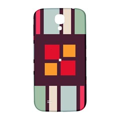 Squares and stripes  Samsung Galaxy S4 I9500/I9505  Hardshell Back Case