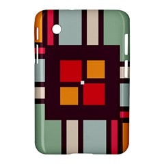 Squares and stripes  Samsung Galaxy Tab 2 (7 ) P3100 Hardshell Case