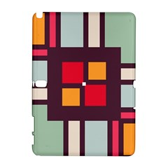 Squares and stripes  Samsung Galaxy Note 10.1 (P600) Hardshell Case