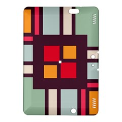 Squares and stripes Kindle Fire HDX 8.9  Hardshell Case