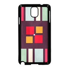 Squares and stripes  Samsung Galaxy Note 3 Neo Hardshell Case