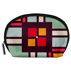 Squares and stripes  Accessory Pouch
