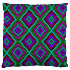Diamond Pattern  Large Flano Cushion Cases (Two Sides)