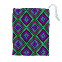 Diamond Pattern  Drawstring Pouches (Extra Large)