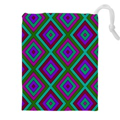 Diamond Pattern  Drawstring Pouches (XXL)
