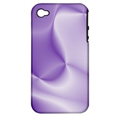 Colors In Motion, Lilac Apple iPhone 4/4S Hardshell Case (PC+Silicone)