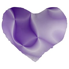 Colors In Motion, Lilac Large 19  Premium Flano Heart Shape Cushions