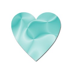 Colors In Motion,teal Heart Magnet