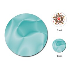 Colors In Motion,teal Playing Cards (round)