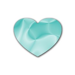 Colors In Motion,teal Rubber Coaster (Heart)