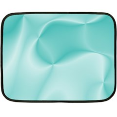 Colors In Motion,teal Double Sided Fleece Blanket (Mini)