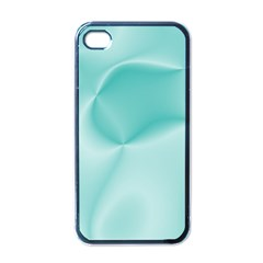Colors In Motion,teal Apple iPhone 4 Case (Black)