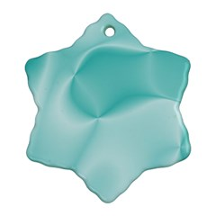 Colors In Motion,teal Ornament (snowflake)