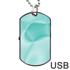 Colors In Motion,teal Dog Tag USB Flash (Two Sides)