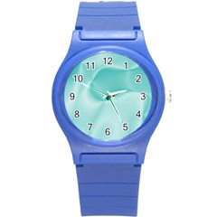 Colors In Motion,teal Round Plastic Sport Watch (S)