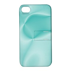 Colors In Motion,teal Apple iPhone 4/4S Hardshell Case with Stand