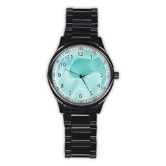 Colors In Motion,teal Stainless Steel Round Watches