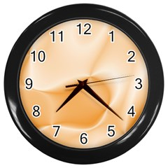 Colors In Motion,peach Wall Clocks (Black)