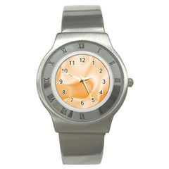 Colors In Motion,peach Stainless Steel Watches