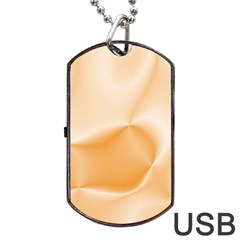 Colors In Motion,peach Dog Tag Usb Flash (one Side)