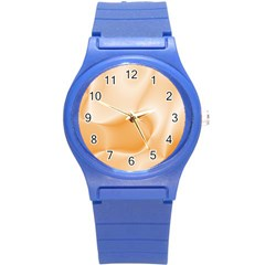 Colors In Motion,peach Round Plastic Sport Watch (S)