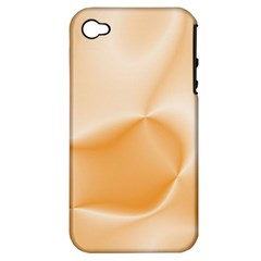 Colors In Motion,peach Apple iPhone 4/4S Hardshell Case (PC+Silicone)