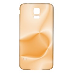 Colors In Motion,peach Samsung Galaxy S5 Back Case (White)