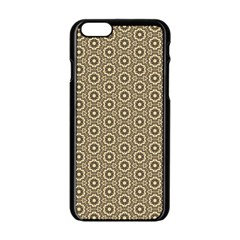 Cute Pretty Elegant Pattern Apple iPhone 6/6S Black Enamel Case