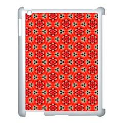 Cute Pretty Elegant Pattern Apple iPad 3/4 Case (White)
