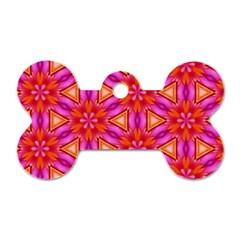 Cute Pretty Elegant Pattern Dog Tag Bone (Two Sides)