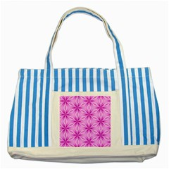 Cute Pretty Elegant Pattern Striped Blue Tote Bag