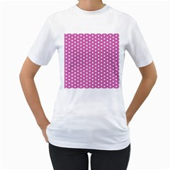 Cute Pretty Elegant Pattern Women s T-Shirt (White)
