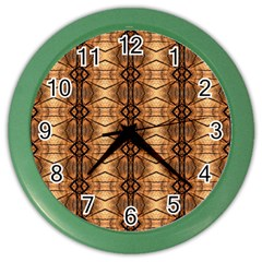 Faux Animal Print Pattern Color Wall Clocks