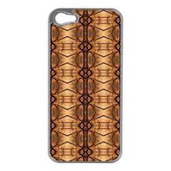 Faux Animal Print Pattern Apple iPhone 5 Case (Silver)