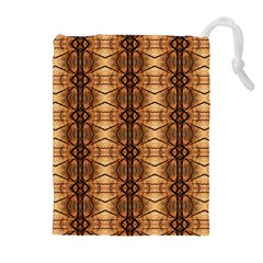 Faux Animal Print Pattern Drawstring Pouches (Extra Large)
