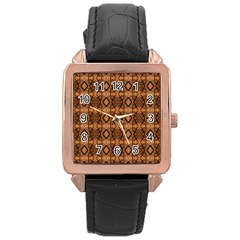 Faux Animal Print Pattern Rose Gold Watches