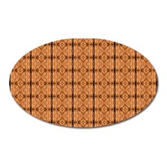 Faux Animal Print Pattern Oval Magnet