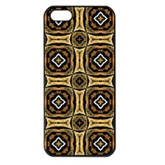 Faux Animal Print Pattern Apple iPhone 5 Seamless Case (Black)