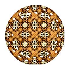 Faux Animal Print Pattern Ornament (Round Filigree)