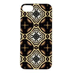 Faux Animal Print Pattern Apple iPhone 5S Hardshell Case