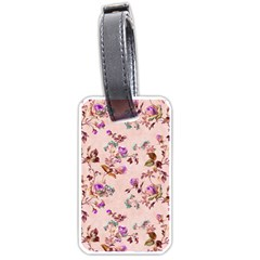Antique Floral Pattern Luggage Tag (two sides)