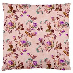 Antique Floral Pattern Large Cushion Case (Two Sides)