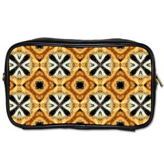 Faux Animal Print Pattern Toiletries Bags 2-Side