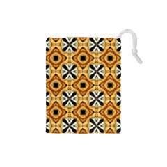 Faux Animal Print Pattern Drawstring Pouches (Small)