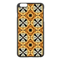 Faux Animal Print Pattern Apple Iphone 6 Plus/6s Plus Black Enamel Case