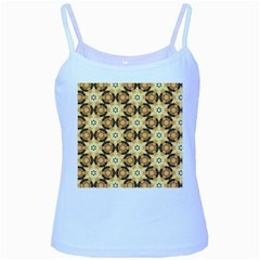 Faux Animal Print Pattern Baby Blue Spaghetti Tanks