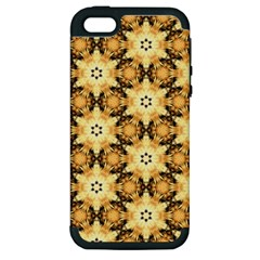 Faux Animal Print Pattern Apple iPhone 5 Hardshell Case (PC+Silicone)
